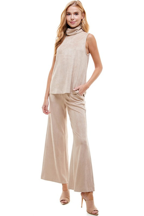 MILES SUEDE FLARE PANTS
