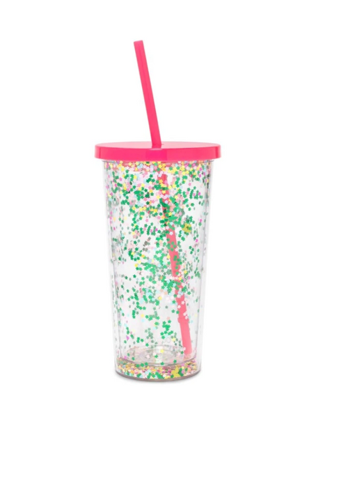 BAN.DO GLITTER TUMBLER IN FLOWER BOMB