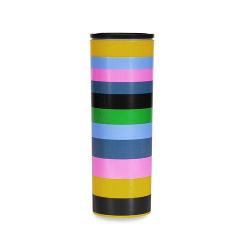 KATE SPADE THERMAL MUG IN ENCHANTED STRIPE