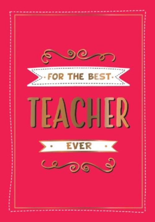 FOR THE BEST TEACHER BOOK
