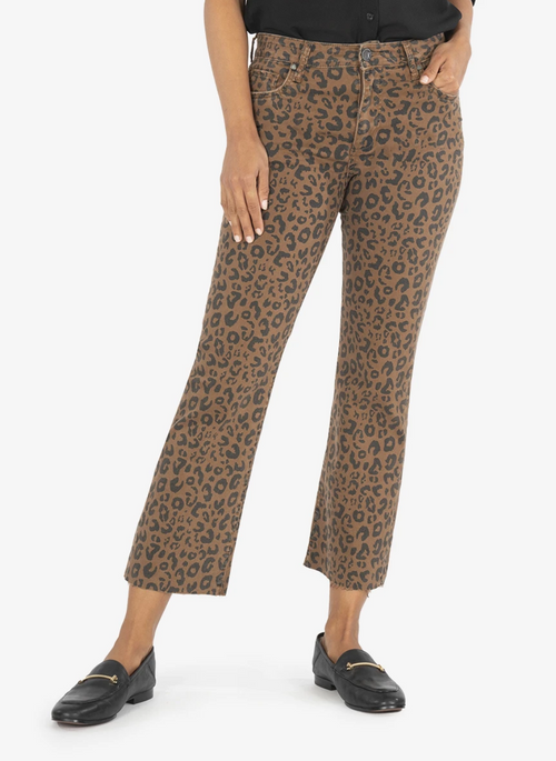 KUT KELSEY HIGH RISE ANKLE IN ANIMAL PRINT