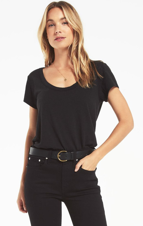 Z SUPPLY JANE TEE IN BLACK