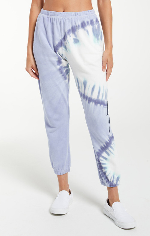 Z SUPPLY SUNBURST TIE DYE JOGGER IN ICE BLUE