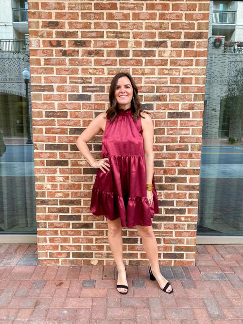 LEIGH SATIN DRESS