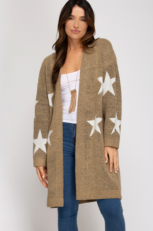 POTTER STAR CARDIGAN IN TAUPE
