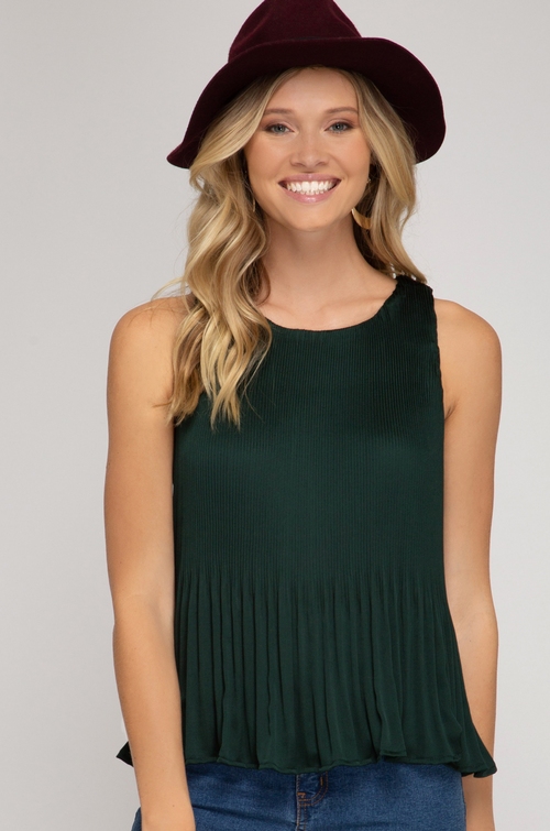 SUTTON PLEATED TOP