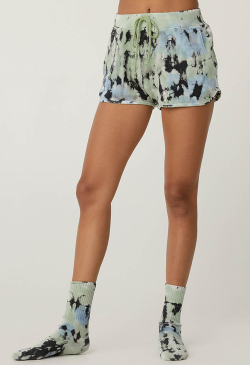 DAYDREAMERS TIE DYE THERMAL SHORTS