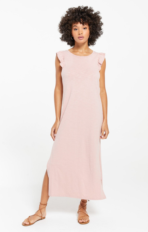 BLAKELY RUFFLE MAXI DRESS IN PINK BLOSSOM