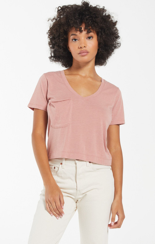 Z SUPPLY CLASSIC SKIMMER TEE IN WILD ROSE