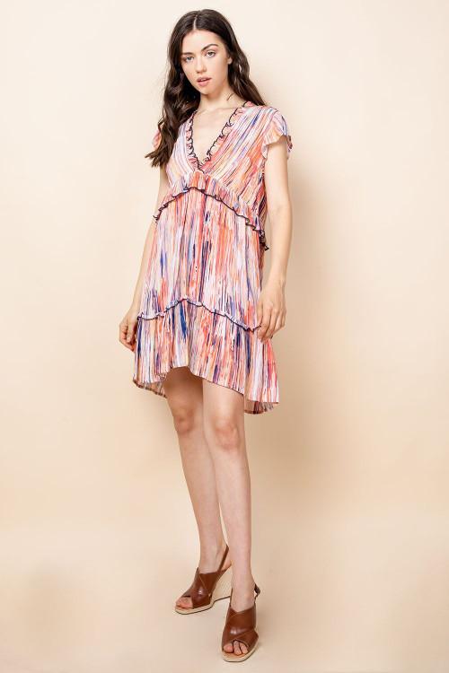 LYDIA FLUTTER DRESS