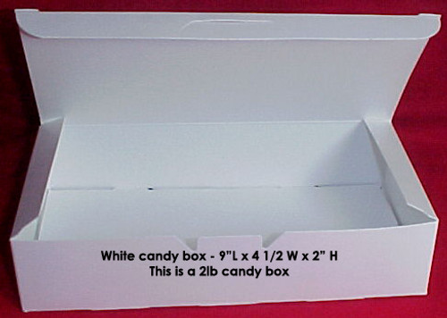 2lb White Empty Candy Box 25 Count