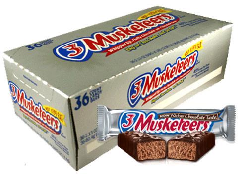 3 Musketeers Candy Bar 36ct