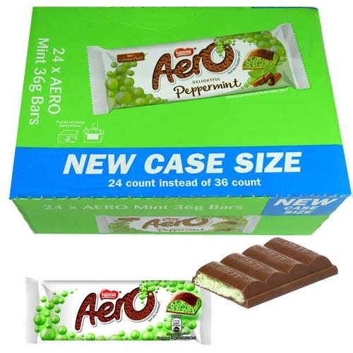 Aero Mint Chocolate Bar 24 Count (UK)