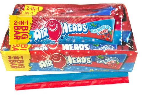 Air Heads Big Bar Blue Raspberry/Cherry Mix 24 Count