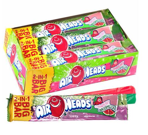 Air Heads Big Bar Strawberry Watermelon 24 Count