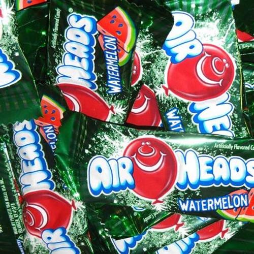 Air Heads Mini Watermelon 25lb Box Bulk