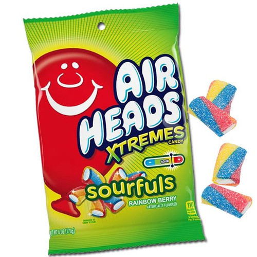 "Air Heads Xtreme ""SOURFULS"" Rainbow Berry 6oz"