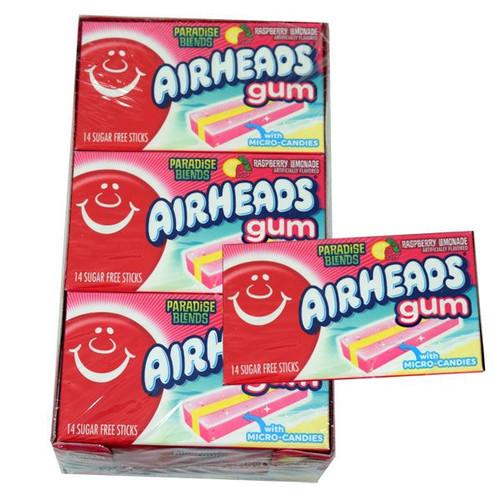 Air Heads Gum Raspberry Lemon 12 Packs