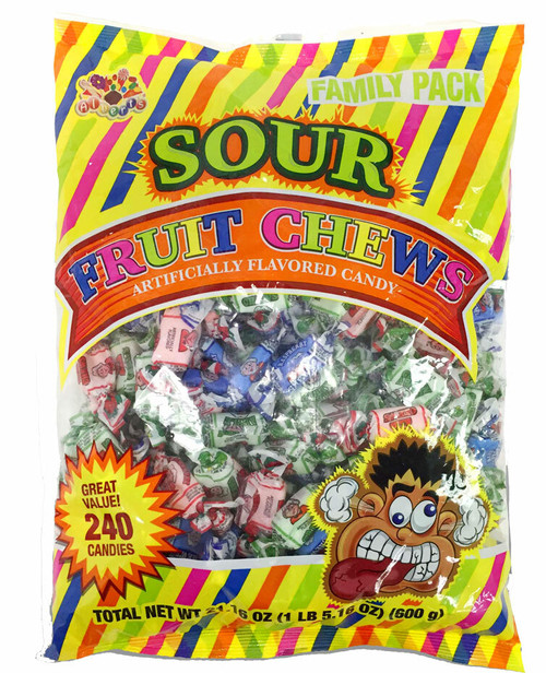 Assorted Sour Fruit Penny Candy Chews 240 Count