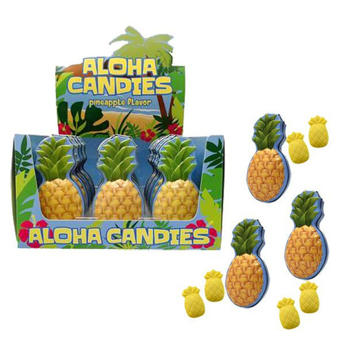 Alhoa Pineapple Candy Tins 18 Count