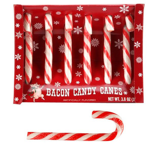 Bacon Candy Canes 6 Count Archie McPhee