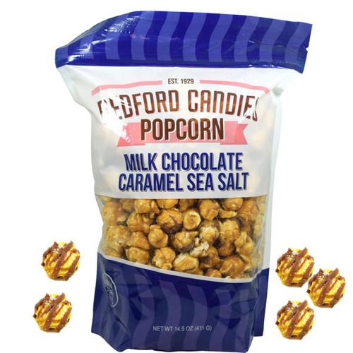 Bedford Candies Popcorn Caramel Sea Salt Milk Chocolate 14.5oz