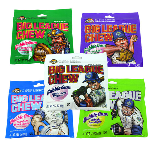 Big League Chew Bubble Gum 12ct  Choose Flavor