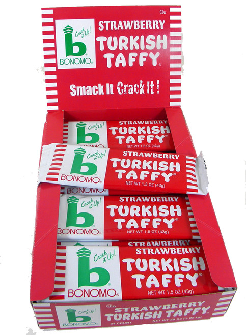 Bonomo Turkish Taffy Strawberry 24ct