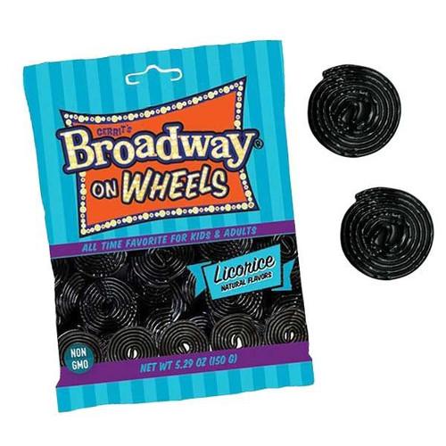 Broadway Licorice Wheels Black 5.29oz