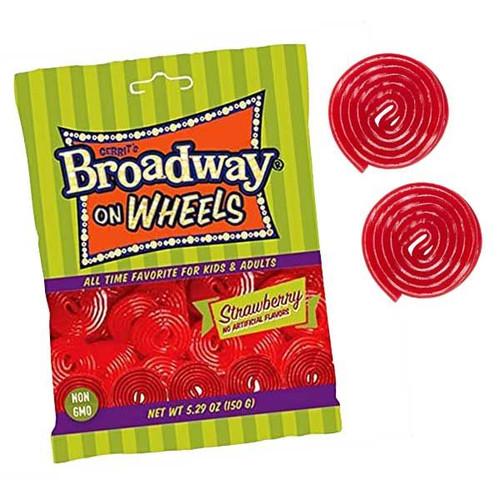 Broadway Licorice Wheels Strawberry 5.29oz