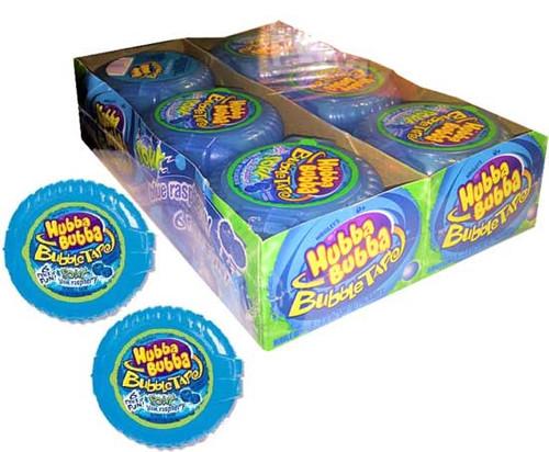 Hubba Bubba Bubble Tape Sour Blue Raspberry 12 Count