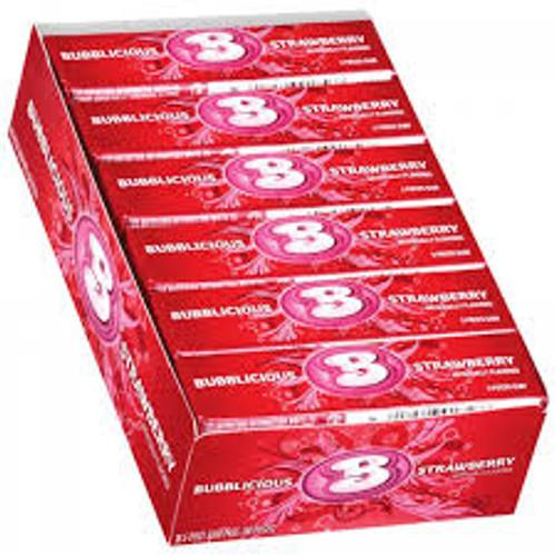 Bubblicious Bubble Gum 18ct - Strawberry