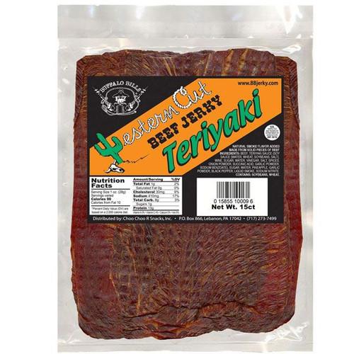 Buffalo Bills Western Cut Teriyaki Beef Jerky 15 Count
