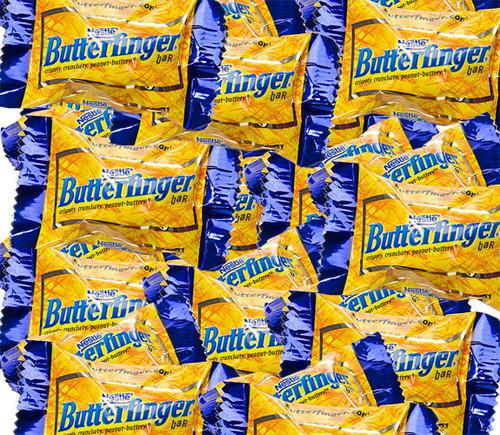 Butterfinger Mini Bite Size Candy Bars 25lb Bulk