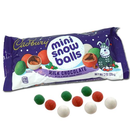 Cadbury Crisp Shell Christmas Snowballs 9oz