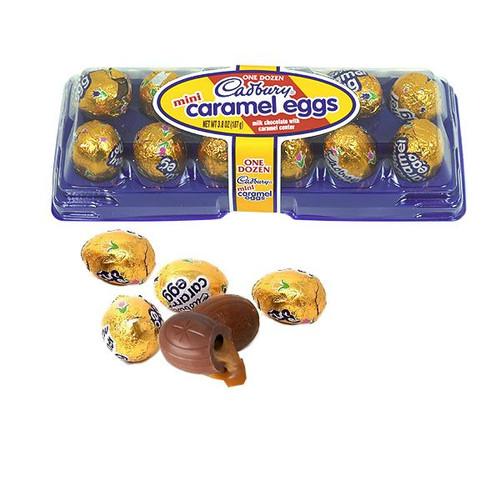 "Cadbury Mini ""Caramel"" Eggs 12 Count Tray"