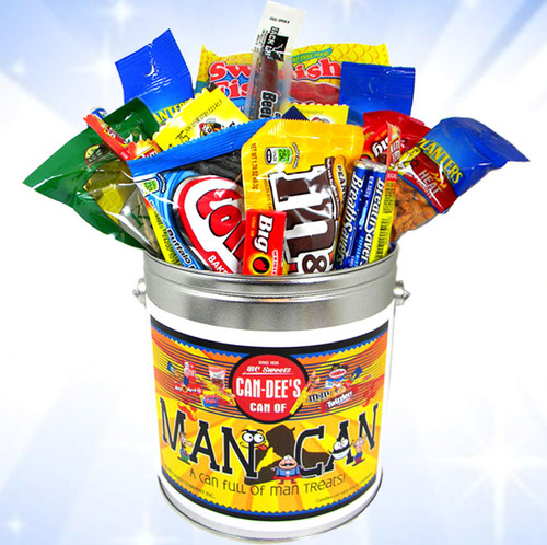 The Man Can! - Can Full Of Man Candies & Snacks!