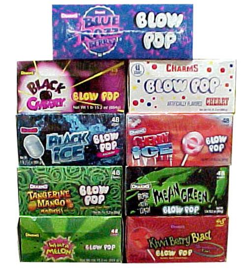 Charms Blow Pop Lollipops - Choose Flavor - 48 Count