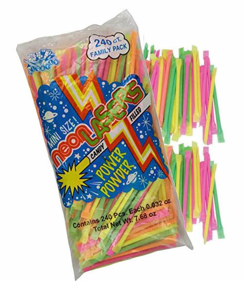 Neon Powder Filled Straws