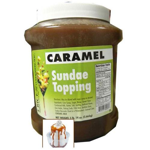 Caramel Sundae Topping 5.14lb Jar