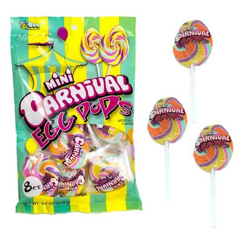Carnival Mini Easter Egg Pops 8 Count Bag