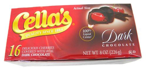 Cella's Chocolate Covered Cherries 8oz Liquid Center Dark