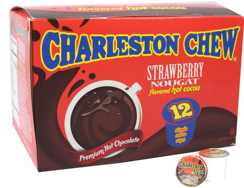 Charleston Chews Strawberry Hot Cocoa K Cups 12 Count