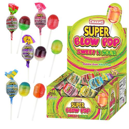 "Charms ""Super"" Blow Pop Sweet & Sour 48 Count"
