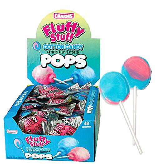 Charms Cotton Candy Lollipops 48 Count