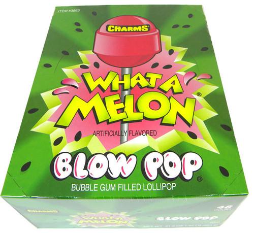 Charms Blow Pop Lollipops - Wat-A-Melon 48 Count