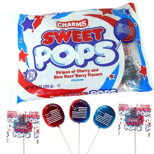 Charms Sweet Patriotic Flag Pops 9oz Bag
