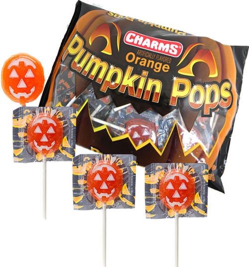 Charms Pumpkin Lollipops 20 Ct Bag