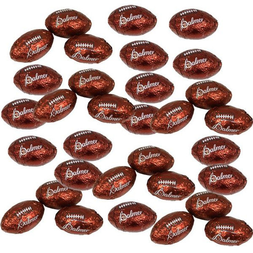 Chocolate Footballs 2lbs (160) Made In The USA