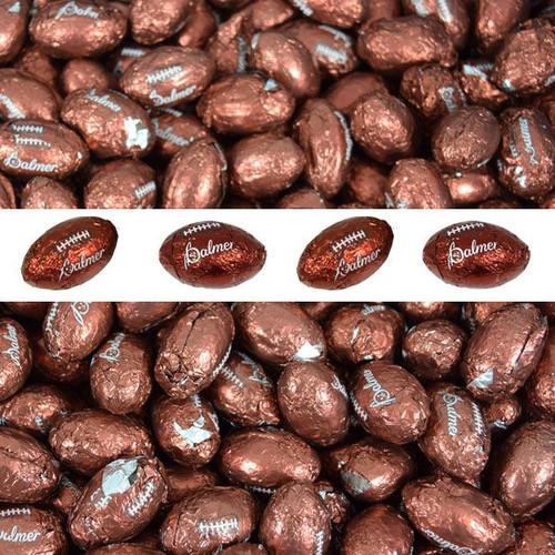 Chocolate Footballs 30lb (2,400) Bulk  Made In The USA
